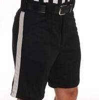 Black Ref Shorts with Stripe